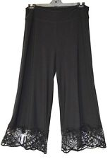 MOTTO Pants plus sz S / 16 -18 Jersey Lace Hem Culotte soft stretch drape NWT!