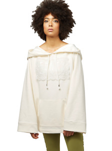 Puma X Fenty Women's Fleece Off Shoulder Long Oversized Sweatshirt Hoodie - M