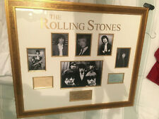 The Rolling Stones  signed authentic autograph - very rare with Brian Jones, Mic
