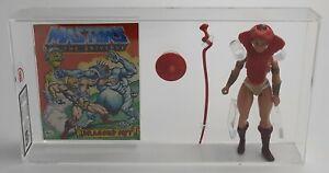 MOTU He-Man Vintage Loose Teela with comic Series 1 No COO 1982 AFA UKG 85%