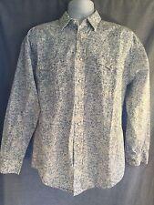 Panhandle Slim Sz Medium Blue Pearl Button Front Western Retro Rockabilly Shirt