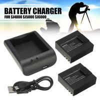 2x 900mAh 3.7V Li-ion Akku + USB Kabel Ladegerät für SJ4000 SJ5000 SJ6000