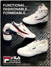 "FILA ATHLETIC FOOTWEAR SNEAKERS Vintage 1980's 8.25"" X 11"" Magazine Ad M79"