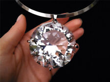 Huge Large Big Clear Gem Crystal Rhinestone Necklace Bib Pendant Choker Jewelery