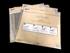 """30  Scrapbook Refills 12"""" x 12""""  With Post Extenders  Acid Free Clear New"""