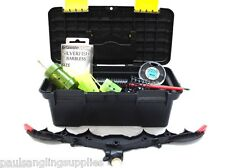 Feeder Fishing Tackle Box & Tackle Feeders Shot Hooks Multi Rest Disgorgers