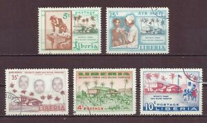 Liberia, Child Welfare Assn, Cancelled to Order hinged, Used, 1957 OLD
