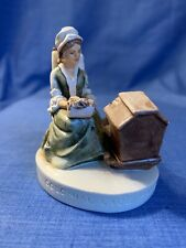 Sebastian Miniature Sml-173 Colonial Lacemaker 1951 Red Sticker Mother Child