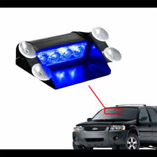 Universal Blue 4 LED Emergency Warn Dashboard Windshield Flash Strobe Light