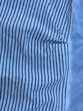 Black White Striped Crib Dust Ruffle Bed Skirt Nursery