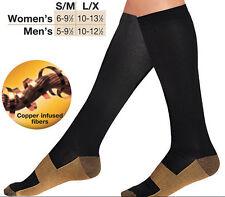 1 Pair XL Socks Compression Copper Support Socks Graduated Varicose