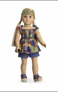 RETIRED American Girl Doll JULIE Patchwork Outfit shoes  NIB Doll Not Included