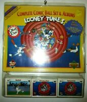 looney tunes complete comic ball set & album new seal free shipping upper deck !