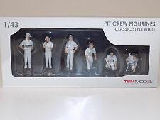 1/43 True Scale Models TSM F1 Pit Crew Figurines Classic Style White TSM12AC11