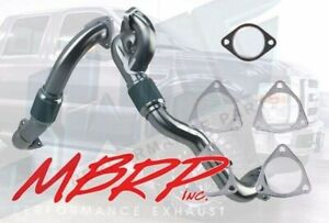 08-10 Ford 6.4 6.4L Powerstroke Diesel MBRP Turbo Up-Pipes Aluminized & Gaskets
