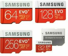 32/64/128/256 GB Micro SD Memory Card Samsung Evo Plus Class 10 TF Flash Adapter