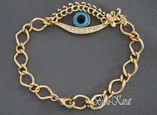 Nazar Evil Eye 18 KGP Gold Armband Magisches Auge Böser Blick Blaues Auge Augen