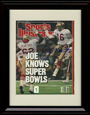 Framed Joe Montana Sports Illustrated Autograph Replica Print - 49ers Champs