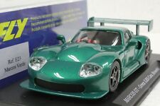 FLY E23 MARCOS 600 GT GREEN LESCAES BRUSSELS LT. EDITION NEW 1/32 SLOT CAR