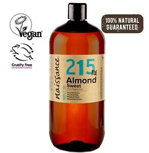 Naissance Mandelöl - 1 Liter (1000ml) - vegan für Hautpflege Kosmetik