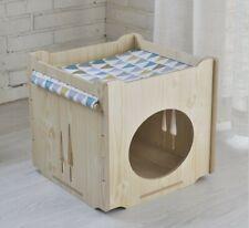 Wooden Dog Kennel Pet Cat House Weatherproof Indoor Outdoor Shelter linjianyuan
