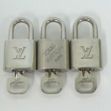 Authentic LOUIS VUITTON Silver set of 3 Padlock [Used]