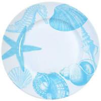 222 Fifth COASTAL LIFE-BLUE Dinner Plate 9436263