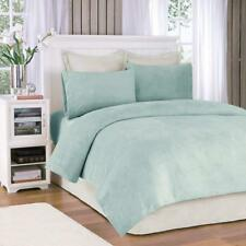 Sleep Philosophy Soloft Casual Micro Plush Twin Bed Sheets Set in Aqua, New