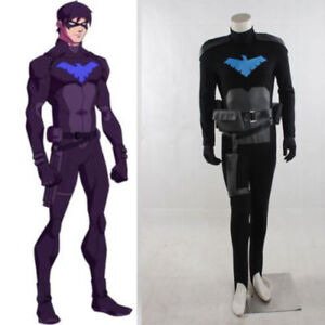 Young Justice Robin Cosplay Costume Haloween party Tailor made Leather Version