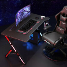 "47"" Gaming Desk Home Office Computer Table Ergonomic Racing Style Gamer Student"