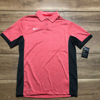 Nike Men's Dry Golf Polo Dri-FIT Size Small Red Breathable