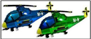 XXL Helium Ballons, Hubschrauber in grün, Folienballon