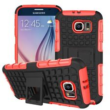 Shockproof PROTECTION HEAVY DUTY Tough 2 layer TELEPHONO CASE COVER + STAND ✔ ROSSO