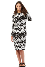 Debenhams Preen Edition Black Zig Zag Print Tube Dress UK Size 16 TD074 01 D