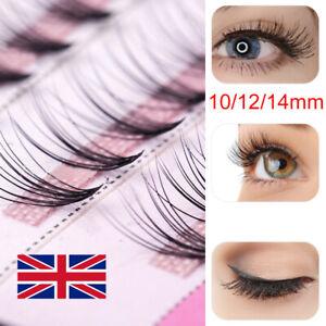 60X Individual Flare Cluster Eyelashes Knotted Eyelash Extensions False Lashes/