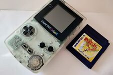 Nintendo Gameboy Color Clear edition console and Pokemon game set/tested-b108-