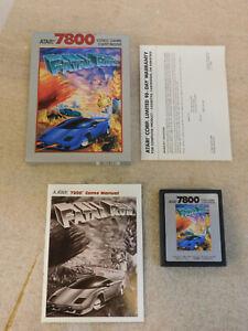 Fatal Run (Atari 7800, 1990) Complete Game Box Manual