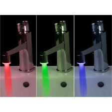 LED Tap Faucet Light Temperature Sensor 3 Colors Changing Water Stream Glow Lamp