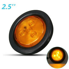 2.5'' Amber Round LED Side Marker Light Turn Signal Lamp Truck Trailer Lorry