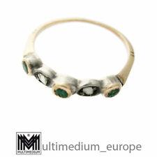 Art Deco 750 Gelbgold Smaragd Aufsteck Ring Diamant 18ct emerald 🌺🌺🌺🌺🌺