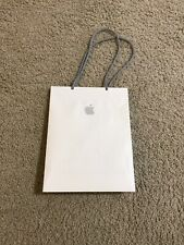 Authentic Apple White Paper Shopping Bag - Gray Corded Handle