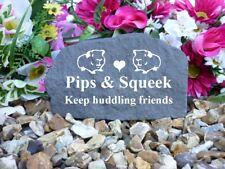 Guinea Pig Memorial - Garden Rock (Rock Effect) Personalised - Weatherproof - M