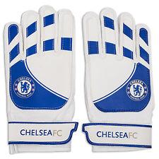 Chelsea FC Official Football Gift Youth Goalkeeper Goalie Gloves Blue