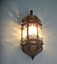 lámpara de pared marroquí hierro forjado araña farolillo decoración foco vaso