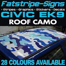Honda Civic EK9 techo Gráficos Pegatinas Rayas Calcomanías Camo Camuflaje Tipo R S