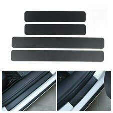 Auto Accessories Carbon Fiber Car Door Plate Sill Cover Anti Scratch Sticker 4x