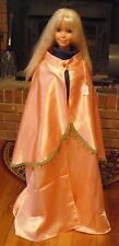 Peach Satin Cloak with Mantle for Child or Cape for Teen or Small Adult FSGC25