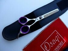 "Osaqi 30Days Warranty_7"" Barber Hairdressing Thinnings Scissors shear in Case"
