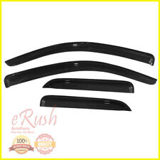 FOR SILVERADO SIERRA DOUBLE CAB SMOKED WINDOW VISOR WIND DEFLECTOR RAIN SHADE US