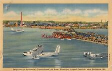 Postcard Seaplanes Baltimore's Transatlantic Base Airport Dundalk Baltimore MD
